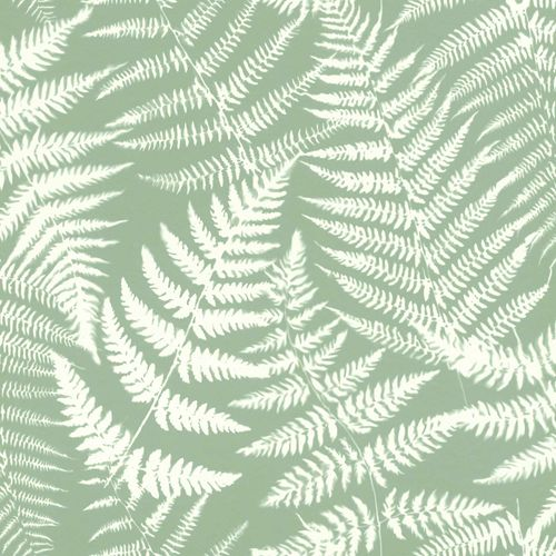Non-Woven Wallpaper Fern Leaves Negativ grey green 138998 online kaufen