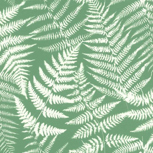 Non-Woven Wallpaper Leaves Negativ green white 138999 online kaufen