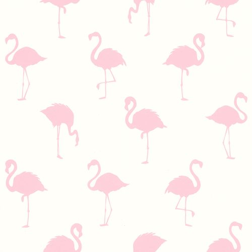 Non-Woven Wallpaper Flamingo Shadow white pink 038992 online kaufen