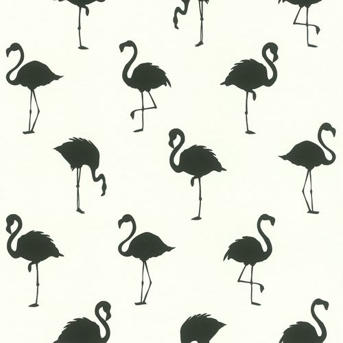Non-Woven Wallpaper Flamingo Shadow white black 138993 online kaufen