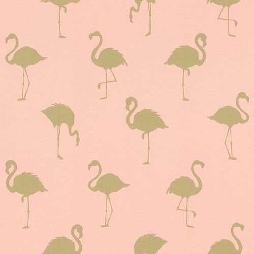 Non-Woven Wallpaper Flamingo pink gold Metallic 138994 online kaufen