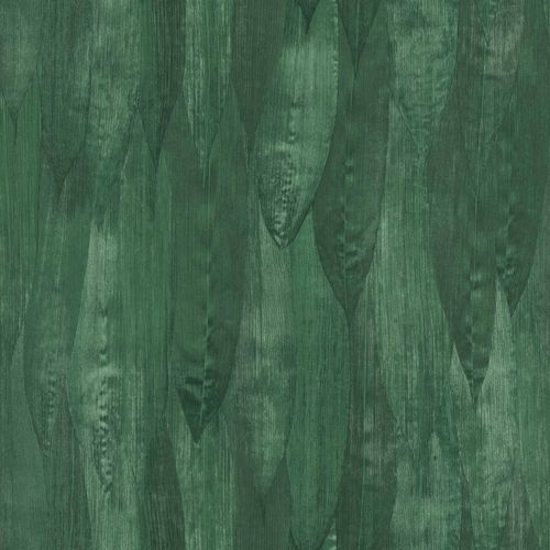 Non-Woven Wallpaper Reed Leaves Floral dark green 138988 online kaufen