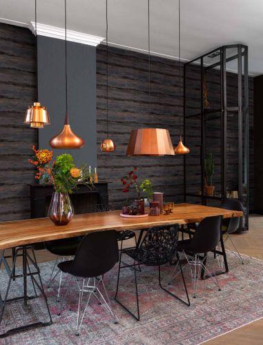 Non-Woven Wallpaper Aquarelle brown Metallic 296111 online kaufen