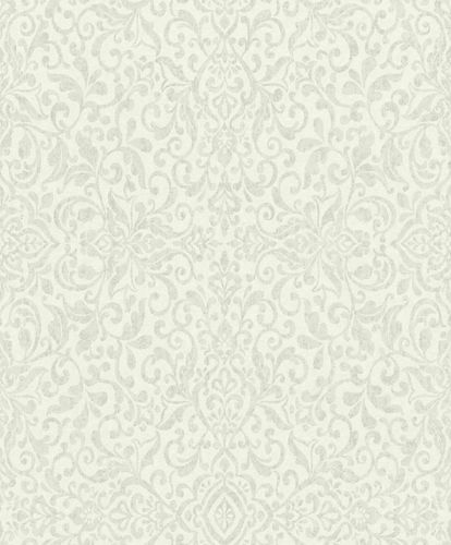 Non-Woven Wallpaper Baroque cream green Gloss 296135 online kaufen