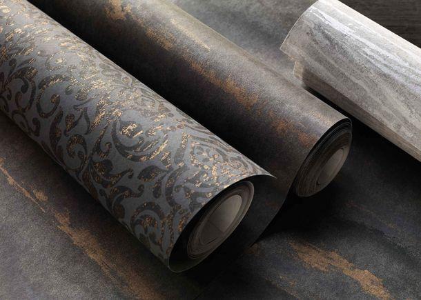 Non-Woven Wallpaper Baroque anthracite Metallic 296166 online kaufen
