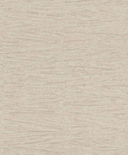 Non-Woven Wallpaper Lines beige silver Gloss 296081
