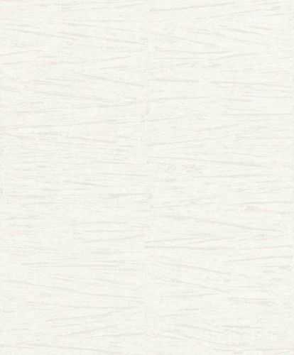 Non-Woven Wallpaper Lines Plaster white grey Gloss 296241