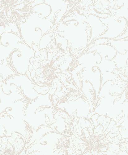 Non-Woven Wallpaper Blossom white bronze Gloss 296296 online kaufen