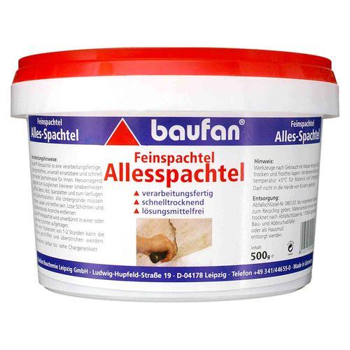 Baufan Allesspachtel Feinspachtel 500g Spachtelmasse
