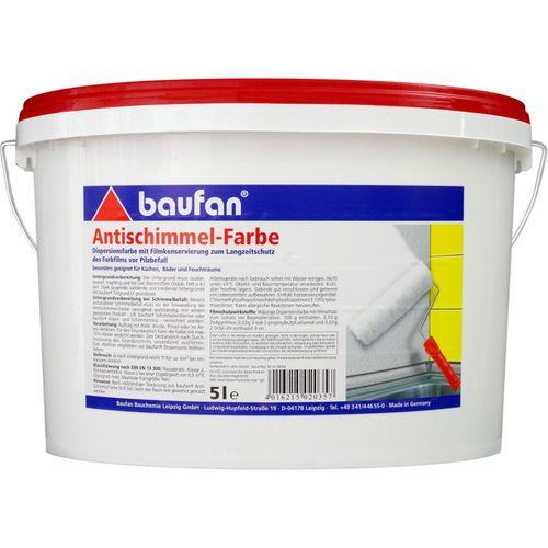 Baufan Antischimmel-Farbe 5 l Küchenfarbe Badfarbe