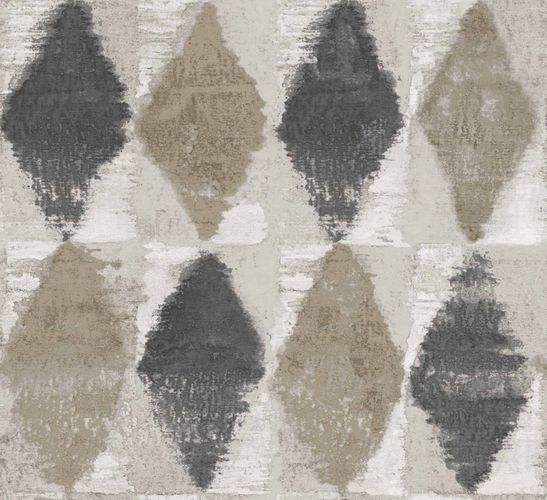 Non-Woven Wallpaper Watercolour Leaves taupe cream 109410
