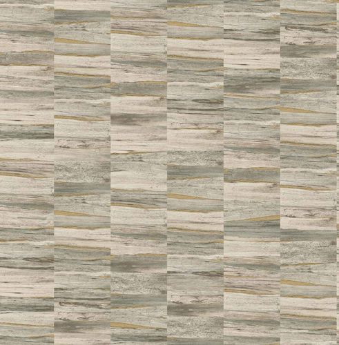 Non-woven Wallpaper Wooden Look beige gold Gloss 124905 online kaufen