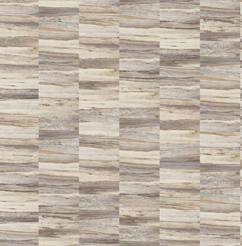 Non-woven Wallpaper Wooden Look cream gold Gloss 124907 online kaufen