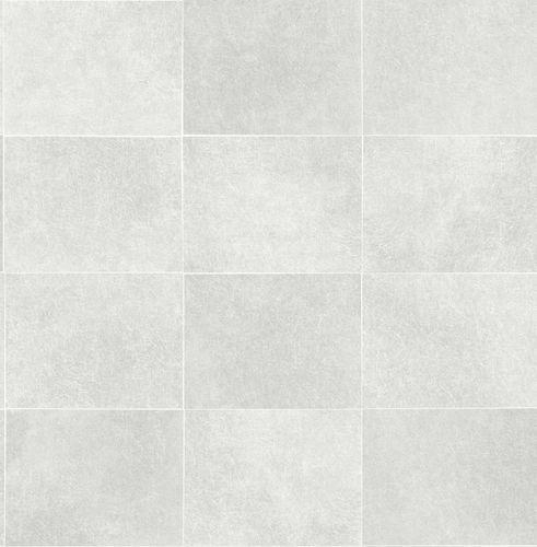 Vliestapete Kacheln silber Glanz Artisan 124908