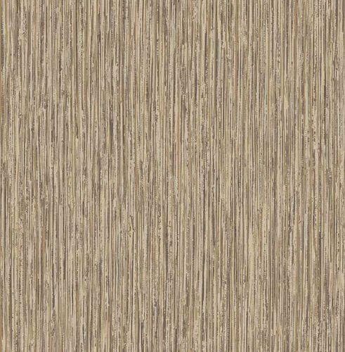 Non-woven Wallpaper Lines Wood brown gold Gloss 124917 online kaufen