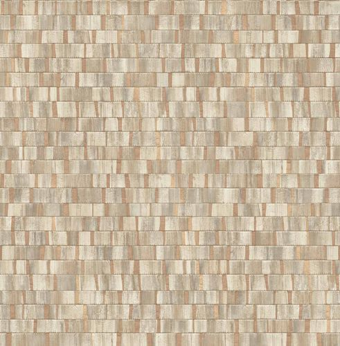 Non-woven Wallpaper Wood Stripes beige brown 124925 online kaufen