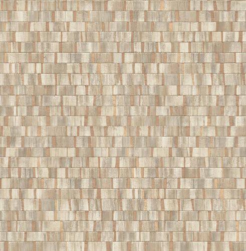 Vliestapete Holz Streifen beigebraun kupfer Glanz 124925 online kaufen