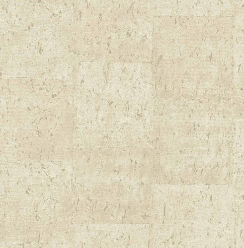 Non-woven Wallpaper Cork Mottled cream copper 124947 online kaufen