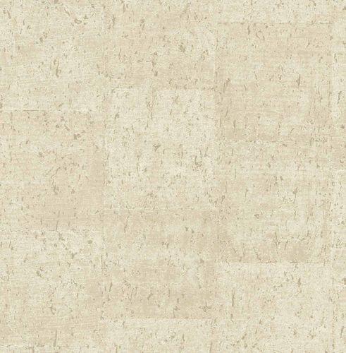 Vliestapete Kork meliert creme kupfer Glanz 124947 online kaufen