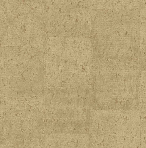 Non-woven Wallpaper Cork Mottled gold copper Gloss 124949 online kaufen