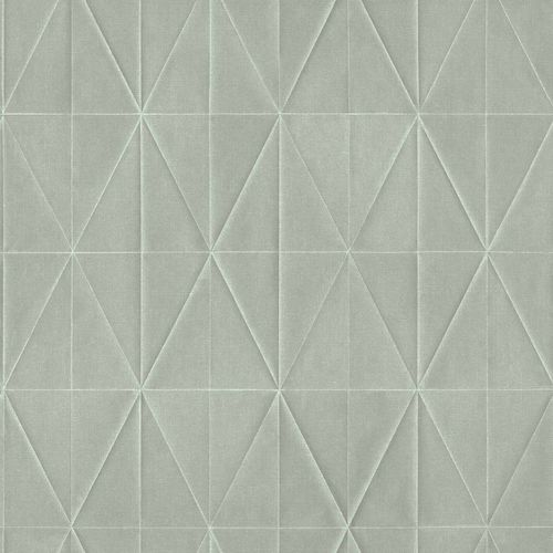 Non-Woven Wallpaper 3D Graphic green grey Blush 148708