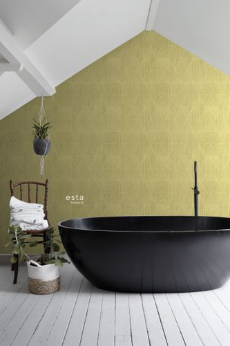 Non-Woven Wallpaper 3D Graphic yellow green Blush 148711 online kaufen