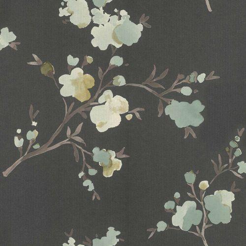 Vliestapete Floral Aquarell anthrazit grün Blush 148719 online kaufen