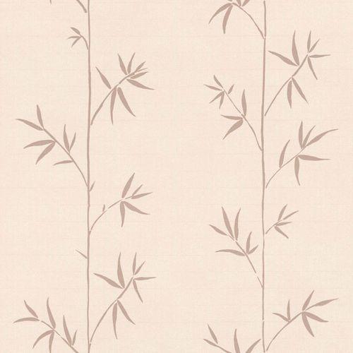 Non-Woven Wallpaper Bamboo pink brown Blush 148727