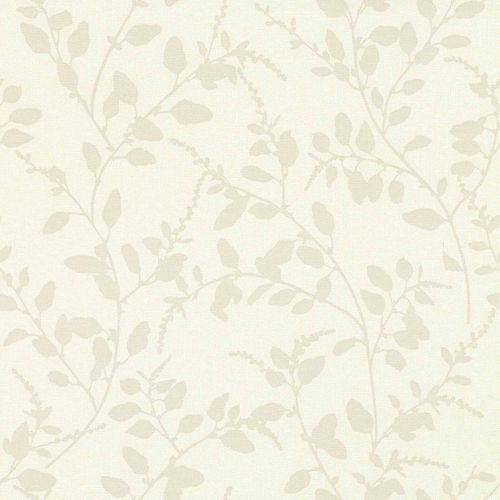 Non-Woven Wallpaper Floral Textile cream beige 148728