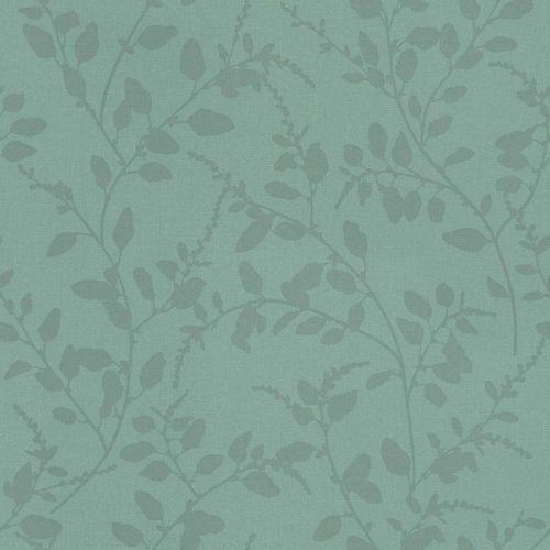 Non-Woven Wallpaper Floral Textile blue green 148730