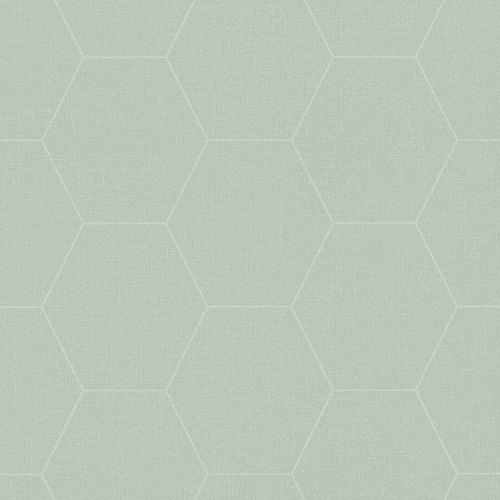 Non-Woven Wallpaper Graphic Combs white green 148750
