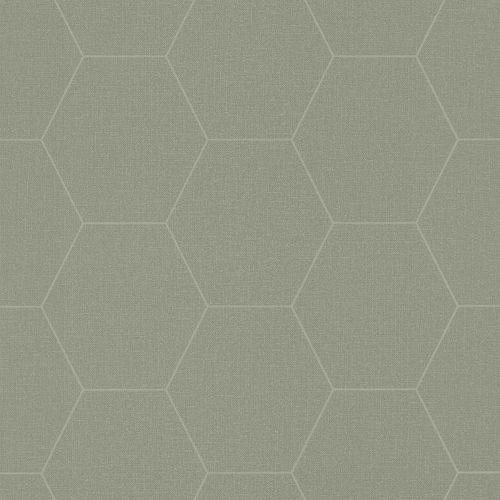 Non-Woven Wallpaper Graphic Combs grey green 148751