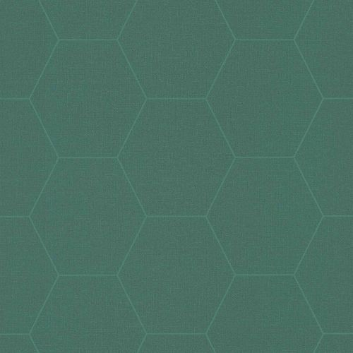Non-Woven Wallpaper Graphic Combs dark blue green 148752 online kaufen