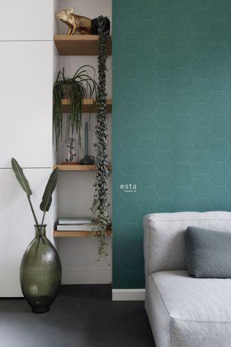 Non-Woven Wallpaper Graphic Combs dark blue green 148752 online kaufen