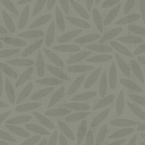 Non-woven Wallpaper Leaves modern grey Design 012023