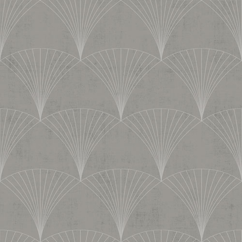 Non-woven Wallpaper Art Deco taupe silver Metallic 112004