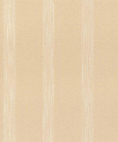 Textile Wallpaper Stripes Pattern apricot Gloss 086040