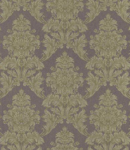 Textile Wallpaper Ornament green-purple Flop Gloss 086156