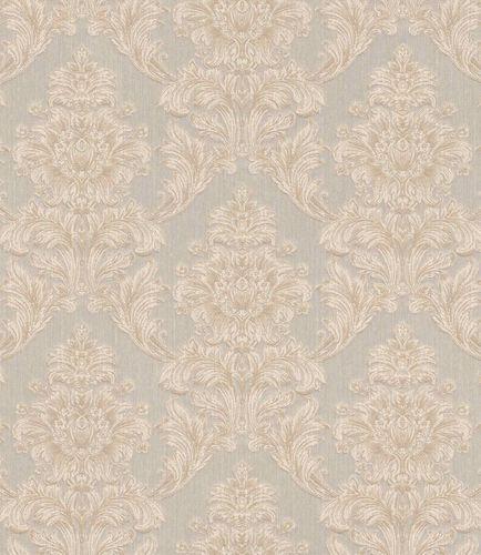 Textiltapete Barock Ornament grau beige Glanz 086170 online kaufen