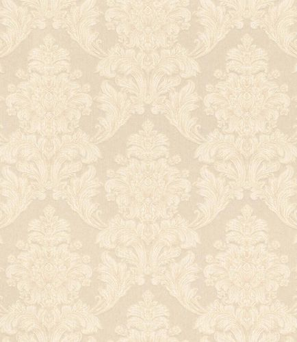 Textile Wallpaper Baroque Ornament cream Gloss 086200 online kaufen