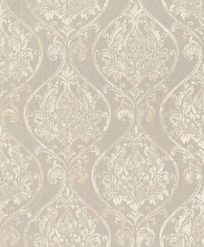 Textiltapete Ornament Rund grau creme Glanz 086248 online kaufen