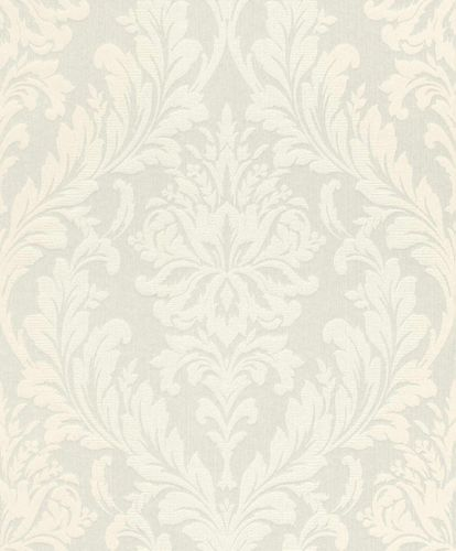 Textile Wallpaper Large Ornament white Gloss 086309 online kaufen
