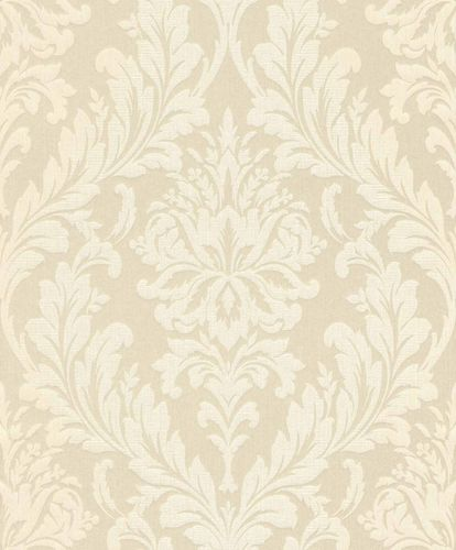 Textile Wallpaper Large Ornament cream white Gloss 086347 online kaufen
