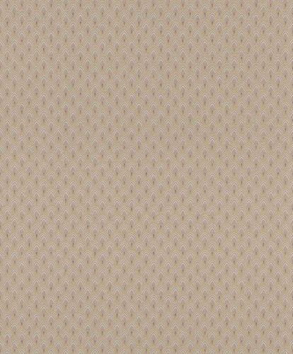 Textile Wallpaper Ornament Fan beige yellow Gloss 086408