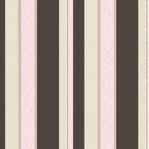 Vliestapete Streifen braun rosa creme Metallic P+S 02280-10 online kaufen