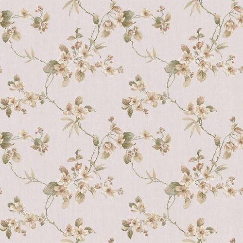 Vinyltapete Blumenranke creme goldbraun graugrün 007800 online kaufen