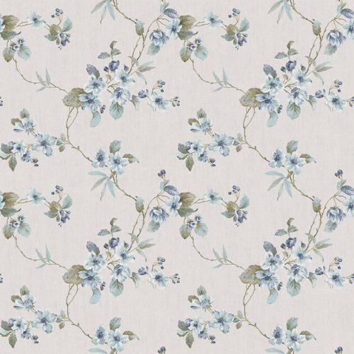 Vinyltapete Blumenranke beige türkis graugrün 007802 online kaufen