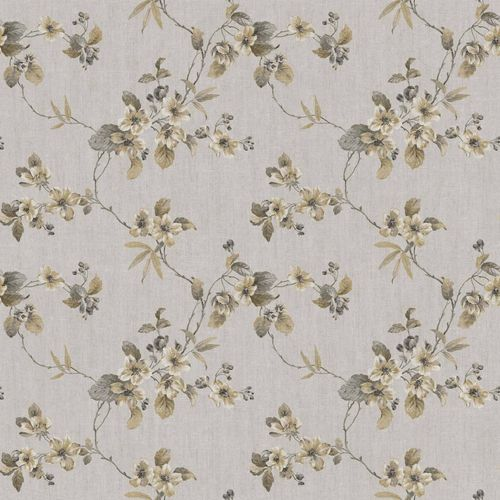 Vinyl Wallpaper flower tendril gold brown grey 107803