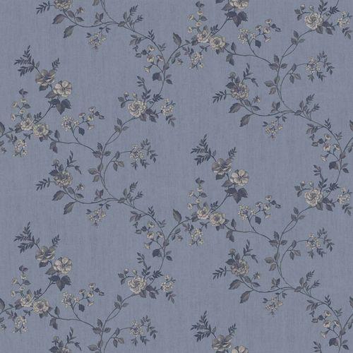 Vinyltapete Rosenranke Floral graublau anthrazit 007809 online kaufen