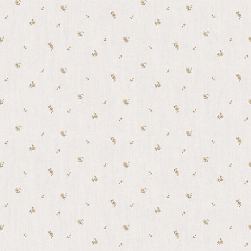 Vinyl Wallpaper little roses beige gold brown 107825 online kaufen